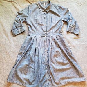 OLD NAVY Chambray Shirt Dress - 12